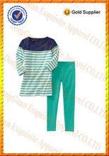 100% de algodón niños niñas ropa de verano/conjuntos de ropa