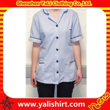 2015 custom made blank high quality hospital fashionable nurse uniform designs