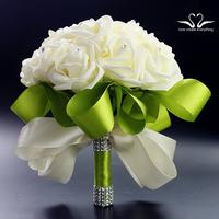 Beautiful Wedding Bouquet Bridal Bridesmaid Flower wedding bouquet wholesale artificial flower white foam flower bouquets XF08