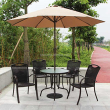 Coffee Table and Cafe Chairs Round Table with Rattan Chairs for Cafe / Coffee Shop