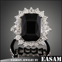 Good price EU vogue crystal big stone acrylic finger ring wholesale