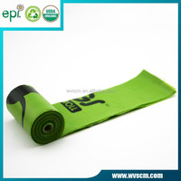 bio degradable dog waste bag pe plastic with epi addition 15 pcs per roll in dispenser
