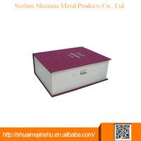 China supplier priced digital code lock book safe box