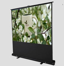 "60"" Portable Floor Projector Screen/Matte white Pull up floor standing projection screen"