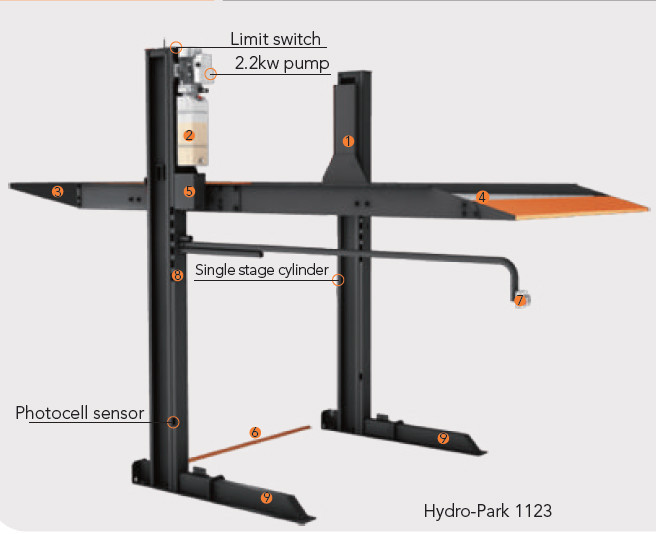 Hydro Lift System : Wholesale two post hydraulic car lift parking system