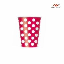 Double color disposable red cup for drinking hot water