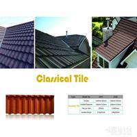 Building meterial corrugated metal roofing shingles stone coated metal roofing tile