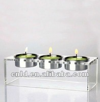 Clear 3-set Plastic Acrylic Candle Holder