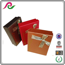 Metallic paper Chocolate Packaging Boxes With Hot Stamping Logo