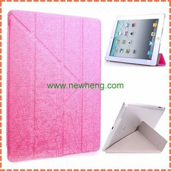 Ultra Slim Multi-folded Transformers Stand PU Leather Case for iPad Mini 2