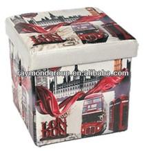 Folding PVC/PU/Leather/Fabric with MDF Ottoman with storage