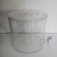 2015 New product round transparent plastic drink dispenser with tube