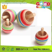 Hot Sale Children Holiday Gifts Toy Wood spinning Top