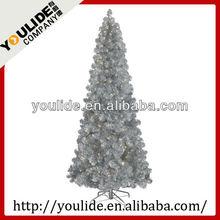 6FT Light Slim Matallic Sliver Tinsel Tree