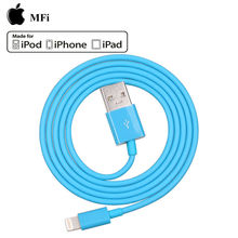 High speed 2.1A1m MFi 8pin data charger phone 6 cable for sale