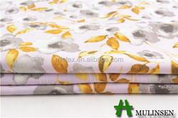 Mulinsen textile plaid printed jacquard fabric gold leaves