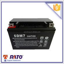 12v 7ah 6DM7 gasoline generator sealed lead acid battery
