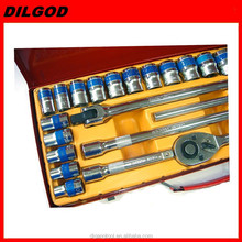 "1/2""DR 24pcs ratcheting socket vehicle repair hand tool kit set"
