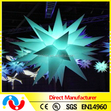 Party/event ceiling decoration inflatable star/led star light