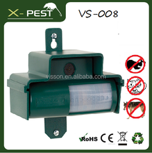 Visson 2015 garden pest off tool animal products VS-008 outdoor sound ultrasonic electric dog control, dog bark, dog repeller