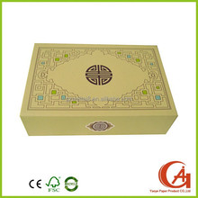 Cardboard custom folding tea set gift paper packaging boxes with Chinese style