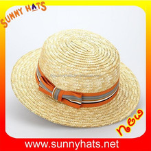 Multi kinds Beautiful girls Straw Boater Hat with Ribbon Bowknot