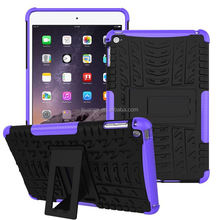 2015 Stylish 2 in 1 Dual Slim Armor TPU&PC kickstand defender case for ipad mini 2015 china price