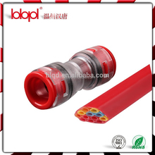 Red Clear HDPE Pipe Fitting Plastic Coupler
