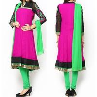 china fashion Pink and green ladies kurtis pakistani indian dress