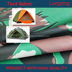 210D camouflage pu/pvc milk coated oxford water repellent for camping tent