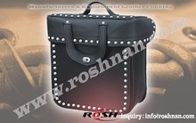 Fine Top Quality Leather Saddle bags for motorcycle with rust-free Buckles and Rivits
