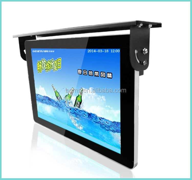 15-22 Inch Tft Lcd Flip Down Roof Mount Car Tv /bus Monitor /vehicle ...