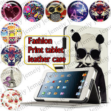"For ipad Mini 2 7.9"" Tablets Printing Folding PU Leather Media Stand Folio Case Cover"