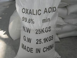 Lowest price of oxalic acid H2C2O4 99.6%min for dyeing/textile/leather manufacturer