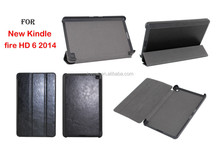 PU Leather Smart Stand Case For Amazon Kindle Fire HD 6