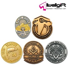 Wholesale Bulk Promotion Round Shaped Golden Plating Lapel Pin