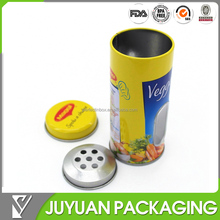 2015 new style spice shaker tin, spice tin packaging canister