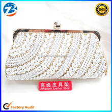 Hot New Women Clutch Bag Pearl Beaded Party Wedding Evening Bag
