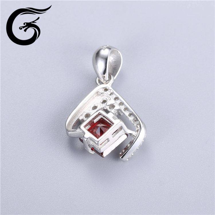 sterling silver charm pendants jewelry pendant blanks ruby