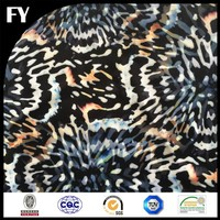 classical leopard pattern printed on laminated cotton fabric