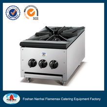 Stainless steel body restaurant equipment gas stove