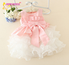 Hot sale frocks design for baby dress designs children baby girl fairy dress with bow