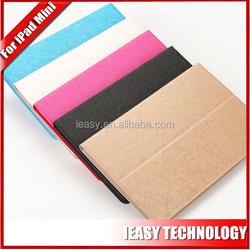 colorful leather smart case for ipad case for mini ipad