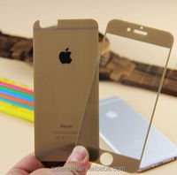 Premium Clear Gold Color Tempered Glass Screen Protector For iphone 5 for iphone6