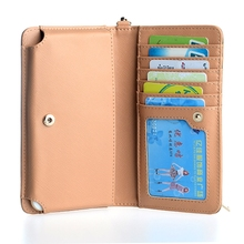 OEM Manufacture Leather Mobile Phone CaOEM Manufacture Leather Mobile Phone Cases with 6 Card Slot and hand strap for Iphone 6