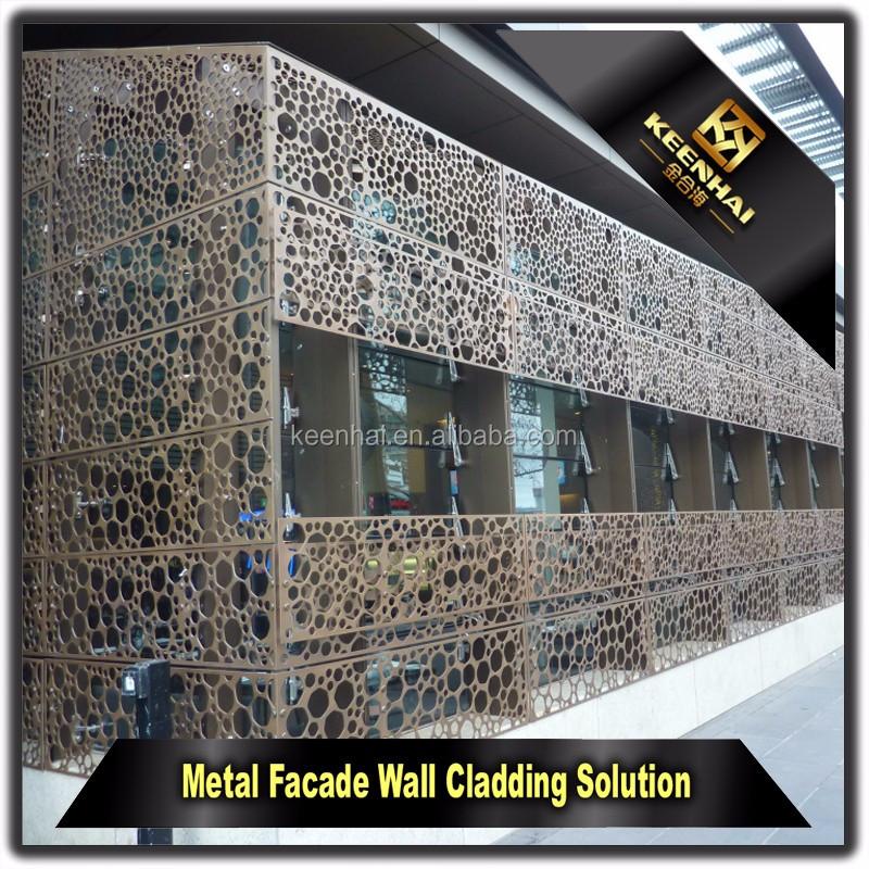 Laser de coupe ext rieur d coratif en aluminium perfor for Laser sur facade