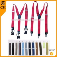 hot colorful elastic suspenders for men