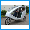 Advertising electric velotaxi with GPS