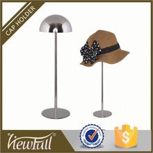 21th century adjustabe height matte or mirror french hat/wig stand shop display with handsome shape
