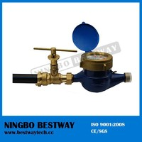 brass lockable ball valve for water meter with brass key